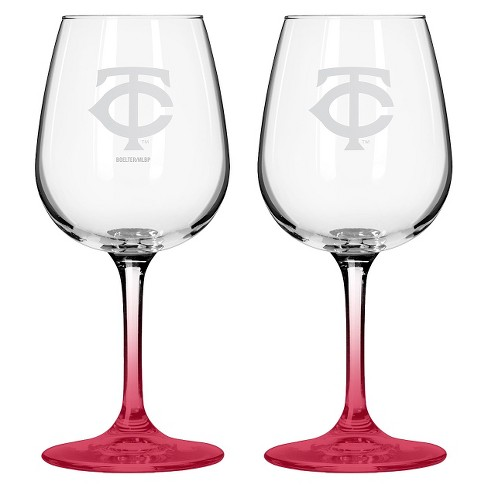 MLB Twins Wine Glass - Set of 2 - 12oz. - image 1 of 1
