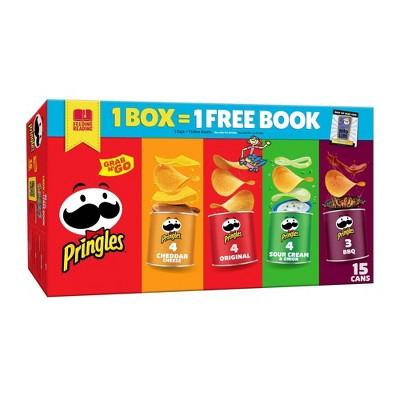 Pringles Grab & Go Variety Pack Potato Crisps Chips - 20.6oz/15ct