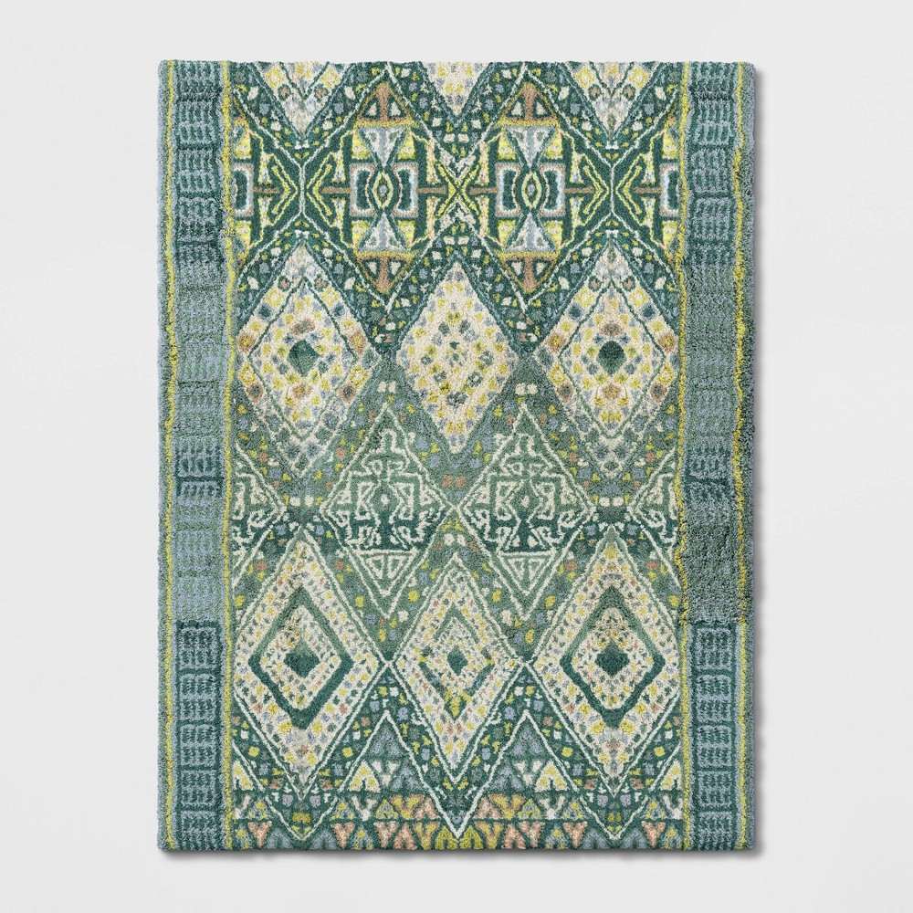 9'X12' Coreopsis Diamond Tufted Area Rug Turquoise - Opalhouse was $549.99 now $274.99 (50.0% off)