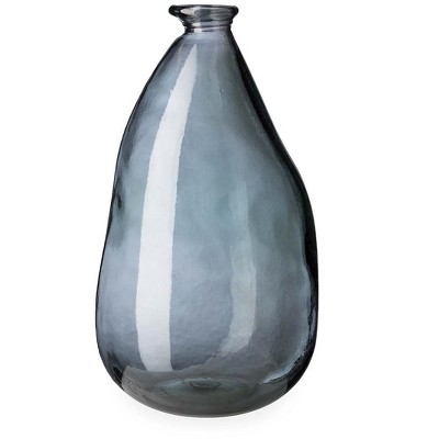 VivaTerra Oblong Recycled Glass Balloon Vase, 14""