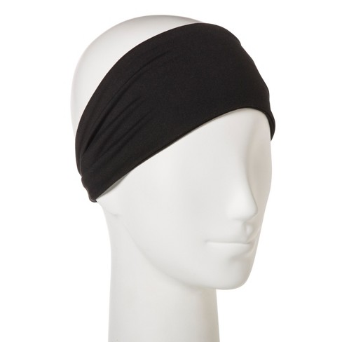 Women s Wide Fabric Headband - C9 Champion® Black One Size   Target 3554a0cc7d8