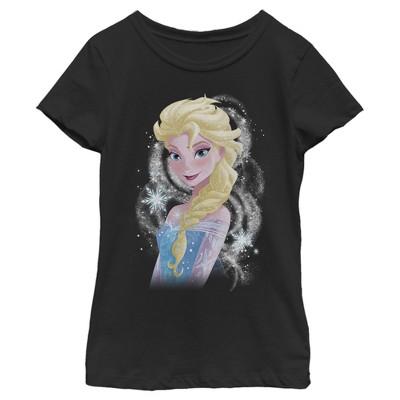 Girl's Frozen Elsa Sparkle Profile T-Shirt