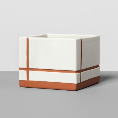 Stoneware Square Terracotta Planter - Hearth & Hand™ with Magnolia