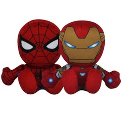 "Bleacher Creatures Marvel 8"" Kuricha Bundle: Spider-Man and Iron-Man Plushies"