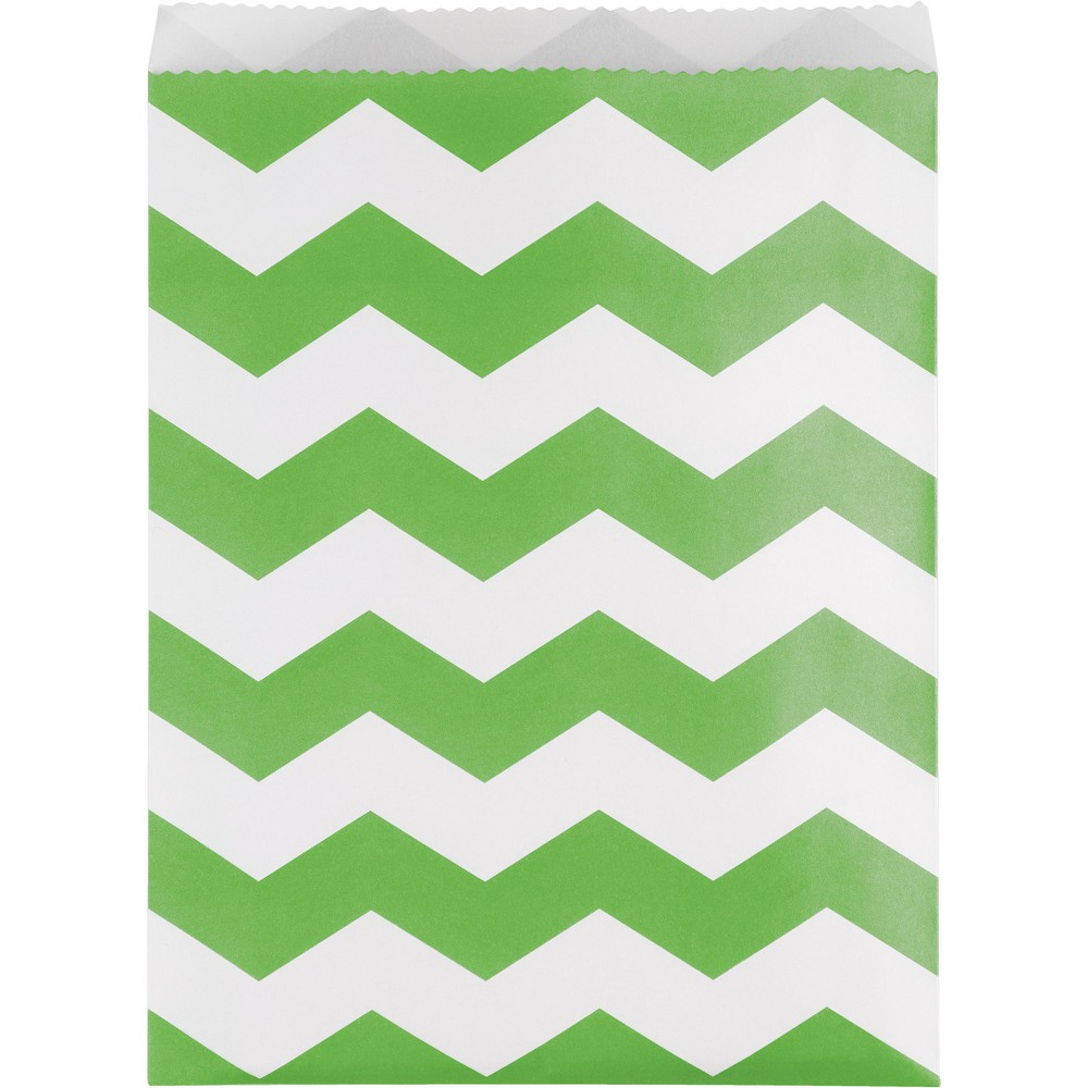 Image of 10ct Green Chevron Treat Bags