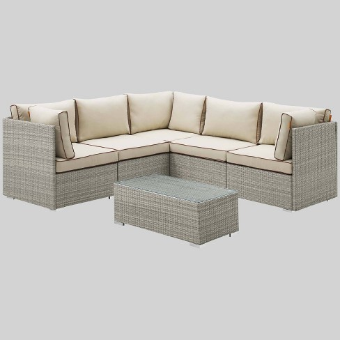 Repose 6pc Outdoor Patio Sectional Set