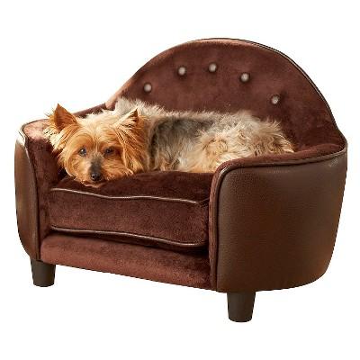 Enchanted Home Ultra Plush Headboard Pet Bed - Brown