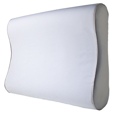 Sleep Innovations Gel Infused Memory Foam Contour Pillow - White (24 )