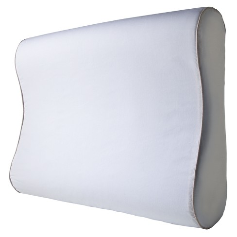 Gel Infused Memory Foam Contour Pillow - White - image 1 of 3
