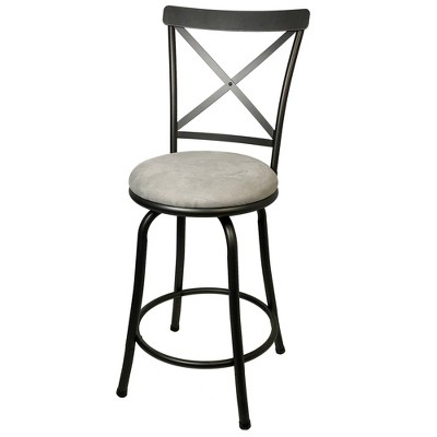 Karson Adjustable Height X Barstool Gunmetal - Cheyenne