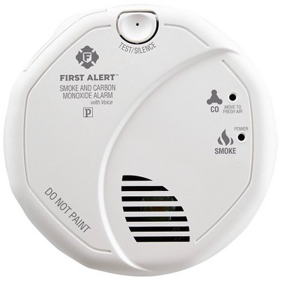 First Alert SC7010BPVCN Hardwired Smoke & Carbon Monoxide Detector with Voice Location and Battery Backup