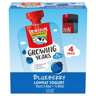 Horizon Organic Growing Years Blueberry Kids' Yogurt Pouch - 14oz/4pk