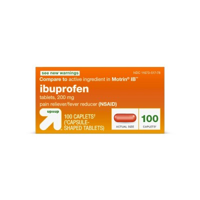 Ibuprofen (NSAID)Pain Reliever & Fever Reducer Tablets - 100ct - up & up™