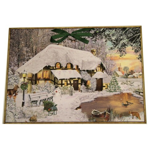 """Christmas 15.0"""" Winter Cottage In The Woods Advent Calendar  -  Advent Calendar - image 1 of 3"""
