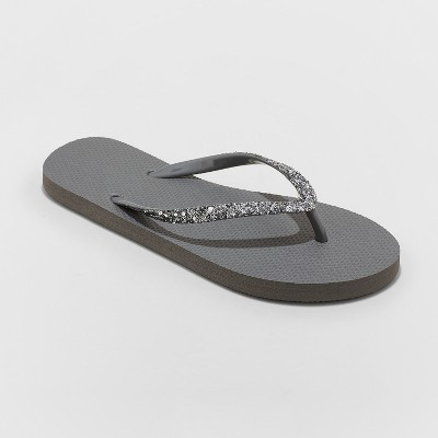 a08cb143541a Women s Brynn Glitter Flip Flop - Shade   Shore™ Gold 11   Target