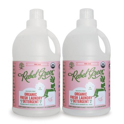 Rebel Green Pink Lilac Laundry Detergent - 64oz/2ct
