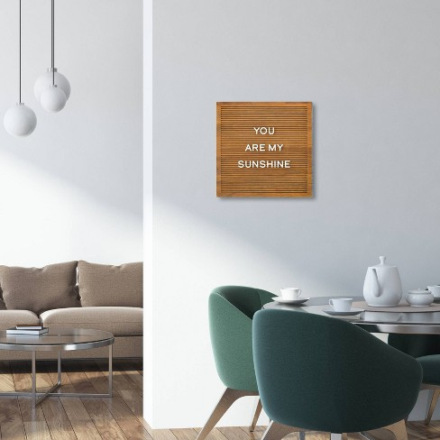 144x 144 Wood Letter Board Brown Threshold