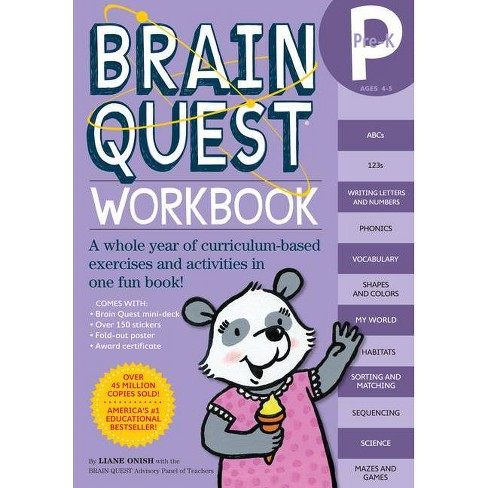 Brain Quest Workbook Pre-K ( Brain Quest) (Mixed media product) by Liane Onish - image 1 of 1