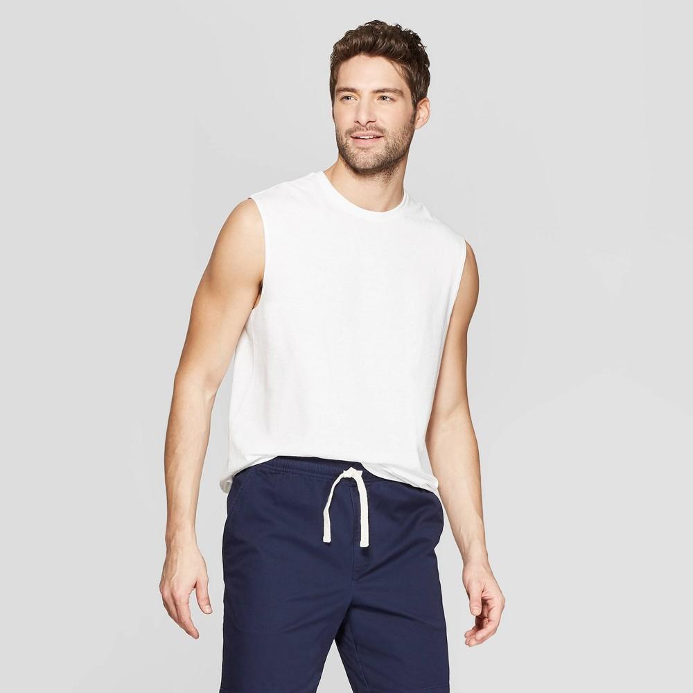 Men's Standard Fit Sleeveless Muscle Tank - Goodfellow & Co White XL