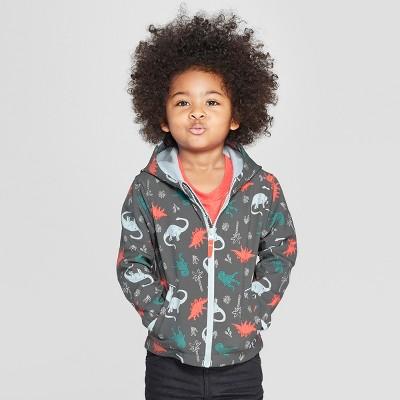Toddler Boys' Dinosaur Softshell Jacket - Cat & Jack™ Charcoal 12M