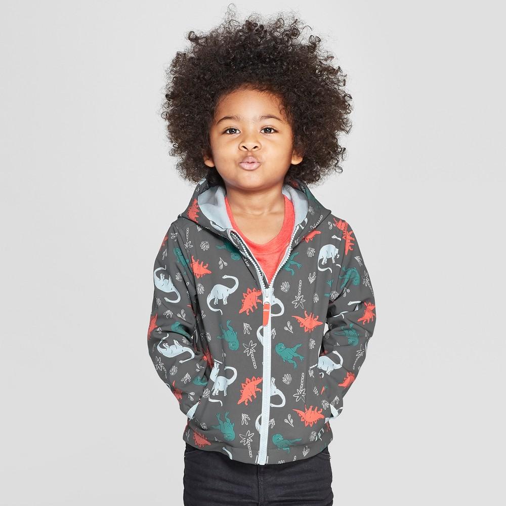 af95a8f1a Toddler Boys Dinosaur Softshell Jacket Cat Jack Charcoal 18M Gray