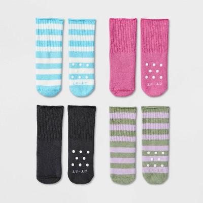 Toddler Girls' 4pk Adaptive Crew Socks - Cat & Jack™