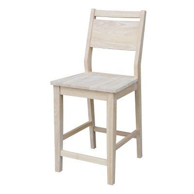 Aspen Counter Height Barstool Panel Unfinished - International Concepts