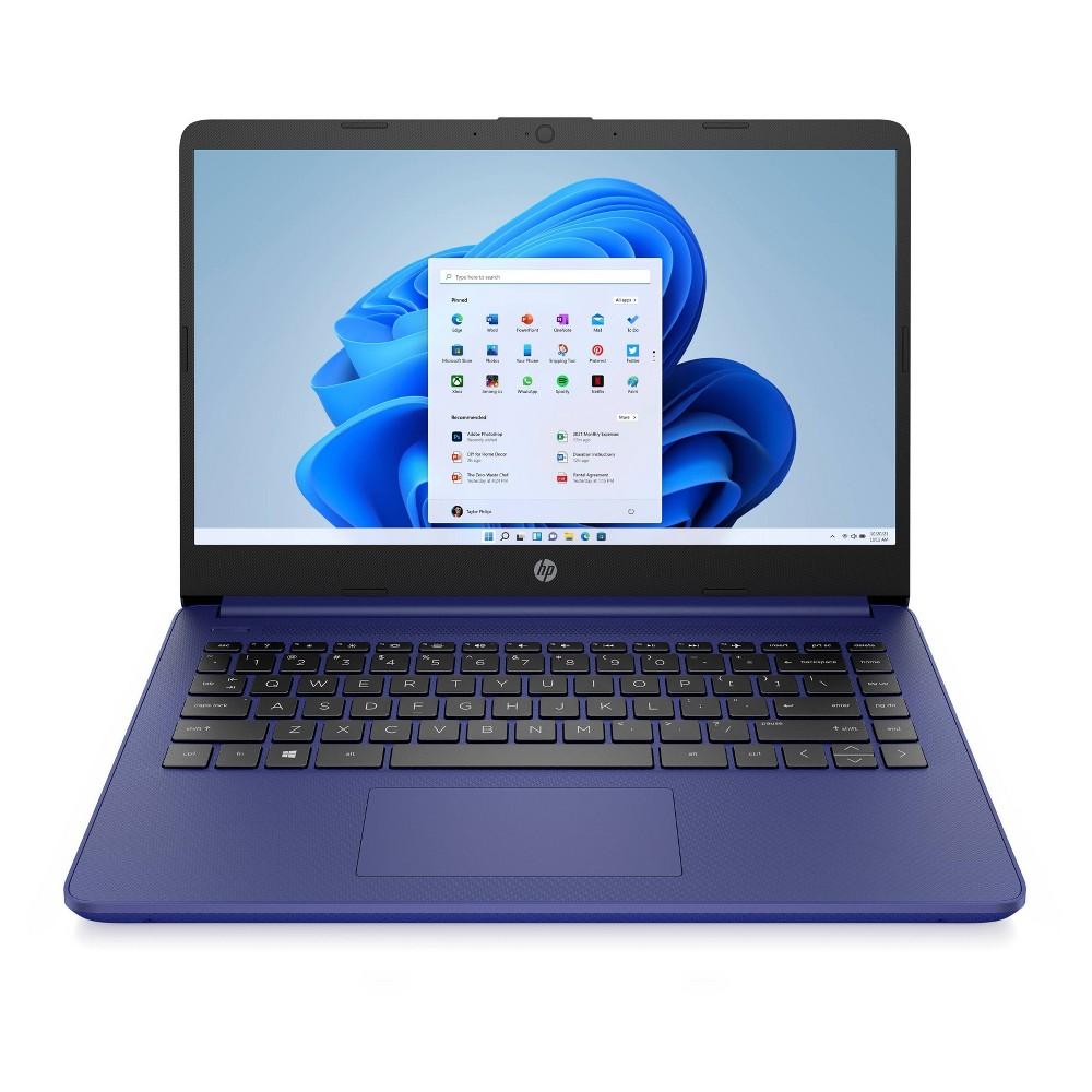 "HP 14"" Stream Touchscreen Laptop with Windows 10 S Mode, 64GB storage, Includes 1-yr Microsoft 365, Indigo Blue (14-fq0037nr)"