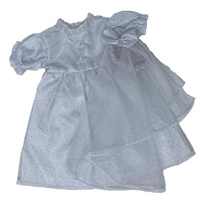 Doll Clothes Superstore Wedding Dress And Veil With Silver Glitter Fits 15 - 16 Inch Baby Dolls