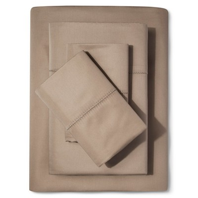 Supima Classic Hemstitch Sheet Set (King)Light Peet 700 Thread Count - Fieldcrest™