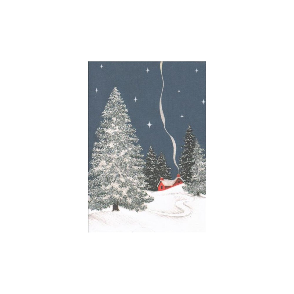 Winter Cottage Small Holiday Cards - (Stationery) Winter Cottage Small Holiday Cards - (Stationery)