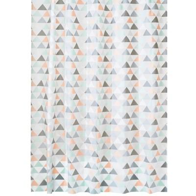 mDesign Triangle Print - Waterproof PEVA Shower Curtain