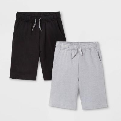 Boys' 2pk Pull-On Knit Shorts - Cat & Jack™ Black/Gray