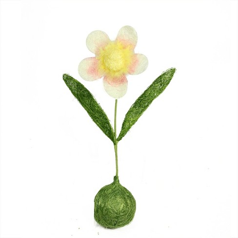 """Northlight 19"""" Daisy Flower Artificial Spring Floral Table Top Decoration - Green/Pink - image 1 of 1"""