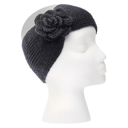 Women's Sylvia Alexander Knit Headband with Flower Detail - image 1 of 3