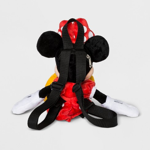 864501418e7 Toddler Girls  Disney Mickey Mouse   Friends Minnie Mouse Plush Backpack -  Black   Target