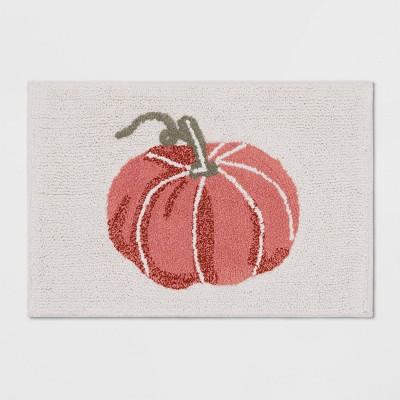 "26""x18"" Harvest Cream Pumpkin Tufted Bath Rug - Threshold™"