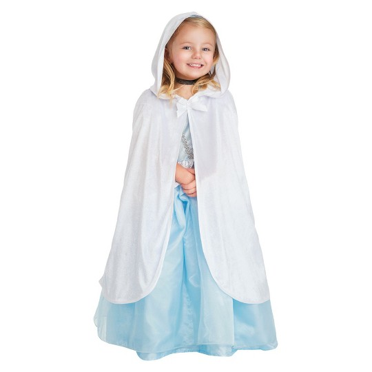 Little Adventures Girls' Cloak - White S/M, Size: Small/Medium image number null