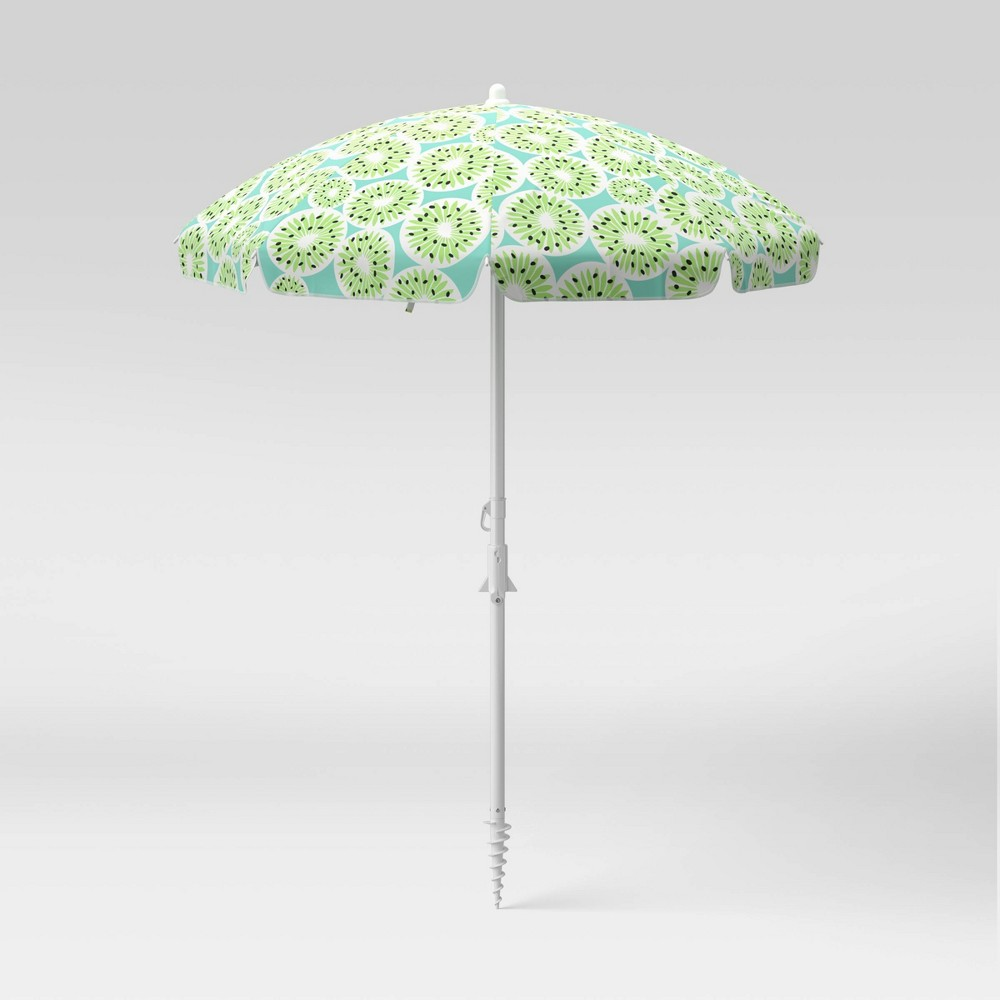 Best 6' Beach Sand Umbrella - Kiwi - Sun Squad™