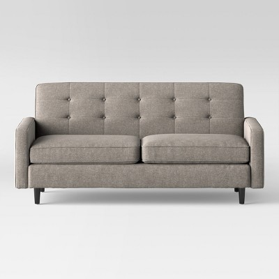 Superieur Largent Tufted Track Arm Sofa Gray   Project 62™