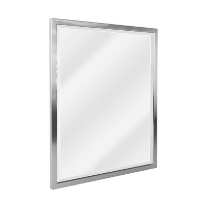 "24"" x 30"" Classic Brushed Metal Frame Wall Mirror Nickel - Head West"