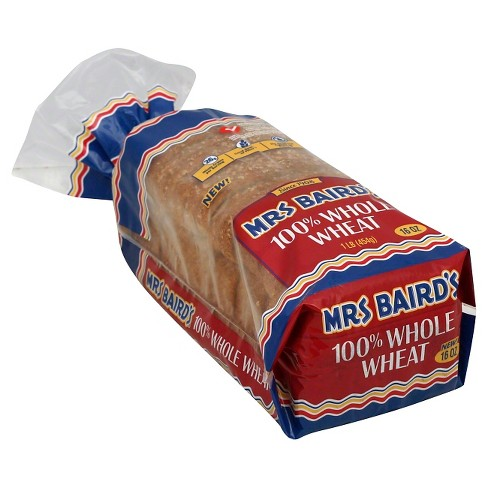 Mrs. Baird's 100% Whole Wheat Bread - 16oz - image 1 of 1