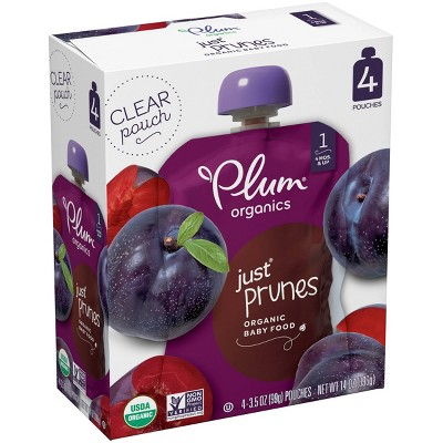 Plum Organics Stage 1 Just Prunes Baby Food - (Select Count)