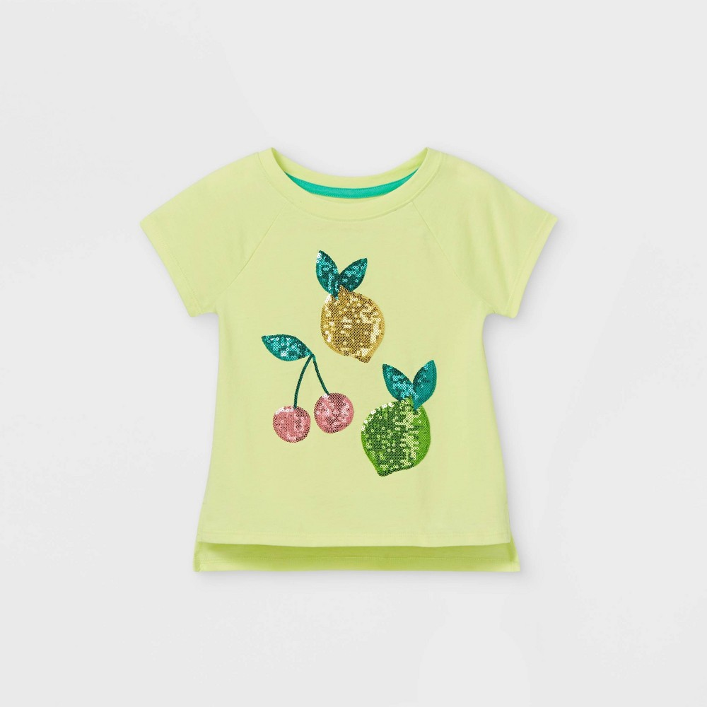 Toddler Girls 39 Sequin Fruit Short Sleeve T Shirt Cat 38 Jack 8482 Yellow 18m
