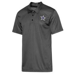 NFL Dallas Cowboys Men's Short Sleeve Dight Charcoal Polo T-Shirt