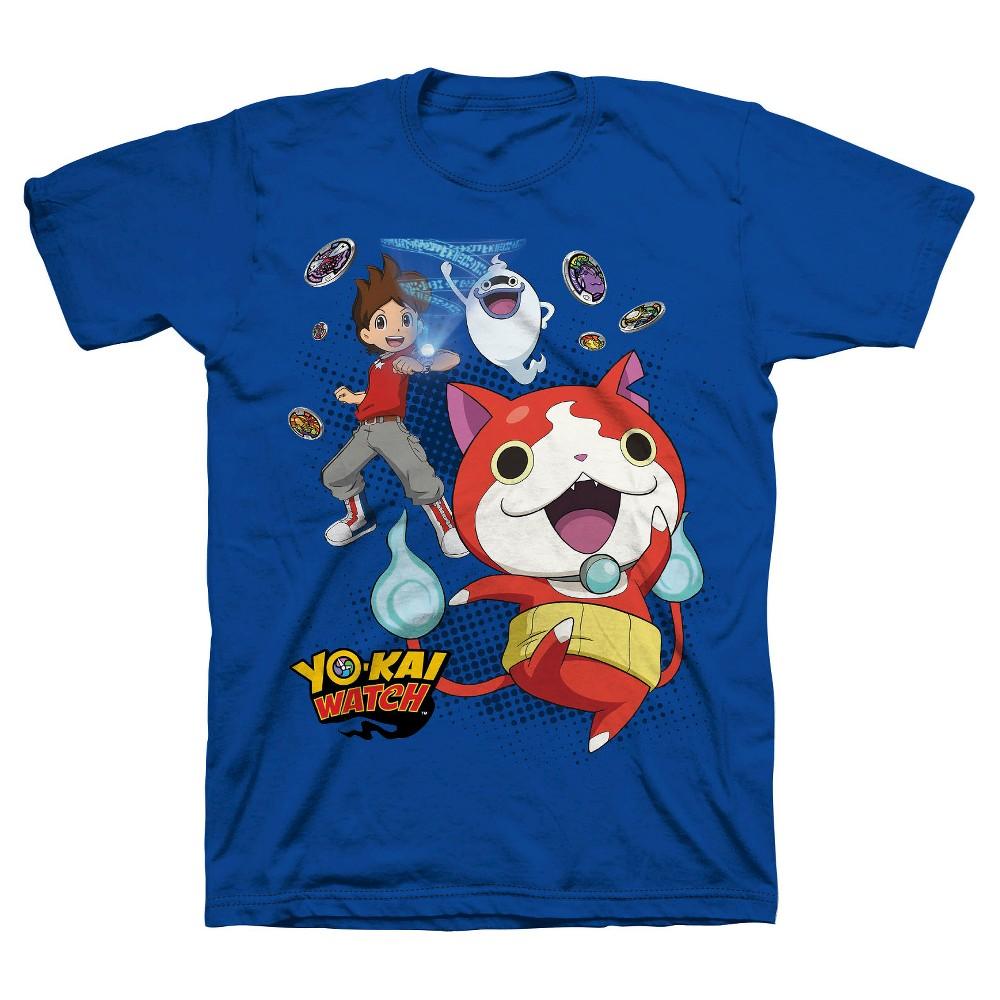Boys' Yokai Jibanyan T-Shirt Blue L