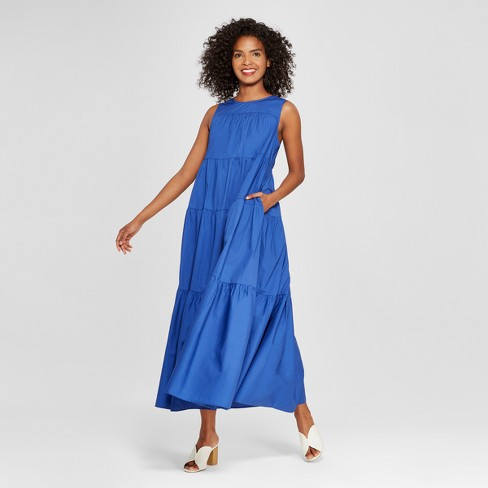 af3ee52f2b5a Women's Tiered Maxi Dress - Who What Wear™ Blue XL : Target