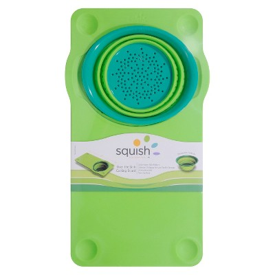 Squish Over-The-Sink Cutting Board with Colander
