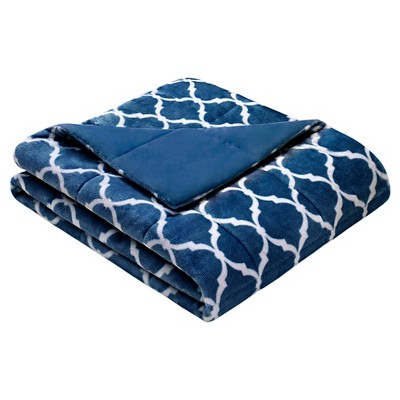 Indigo Ogee Oversized Throw (60 X70 )