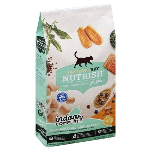 Rachael Ray Nutrish Indoor Complete Natural Dry Cat Food Chicken Lentils & Salmon Recipe - image 1 of 4